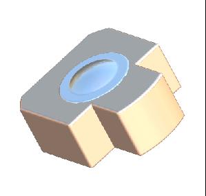 COB Submount with Lens